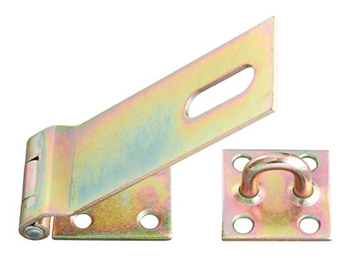 GAH-Alberts 348373 Sicherheits-Überfalle | galvanisch gelb verzinkt | Länge Überfalle 153 mm | Breite 50 mm