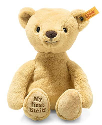 Steiff Soft Cuddly Friends My First Teddybär-26 cm-Kuscheltier für Babys – kuschelig & weich-waschbar-goldblond (242120), beige