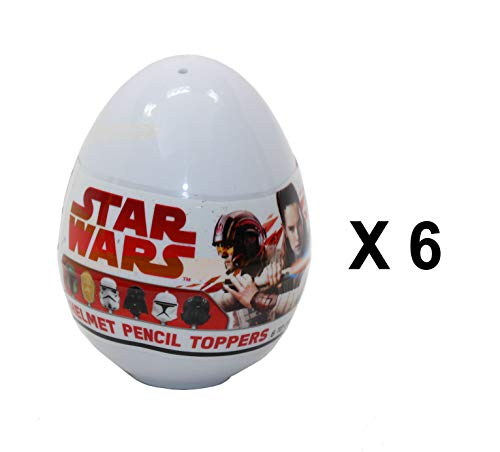 Star Wars 6 x Disney Helm-Stiftaufsatz Mystery Eggs – Party Favour Bag