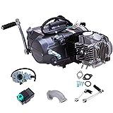 Gdrasuya 125CC Air-Cooled 4-Stroke Motor Engine Pit Dirt Bike ATV Quad Kit Manual Clutch Gasoline Engine for Honda CRF50F 00-09 11-15 CRF70 / XR50 / XR70 / Z50 125CC 1P52FMI Engine