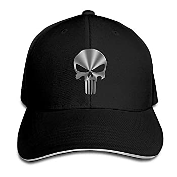 Szipry Men s Women s Pu-NIS-Her 3D Cotton Adjustable Peaked Baseball Dyed Cap Adult Washed Cowboy Hat Black