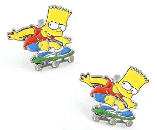 MasGemelos - Boutons de Manchette Bart Simpsons Cufflinks