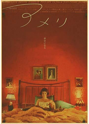 XIAOPINGZI Kunst Leinwand Poster Vintage Amelie Filmklassiker Filmplakate Dekor Poster Classic50 * 70 cm Hochwertig Und Langlebig