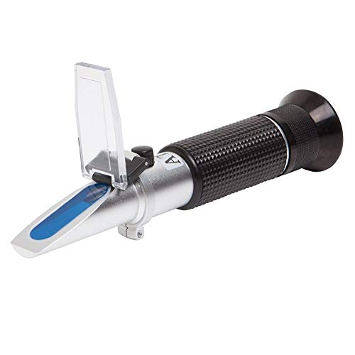 Brix Refractometer with ATC, Dual Scale - Specific Gravity & Brix, Hydrometer in Wine Making and Beer Brewing, Homebrew Kit with Automatic Temperature Compensation Function