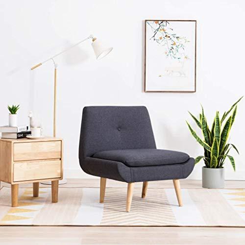 Tidyard Butaca tapizada Sillon Salon Butacas para Dormitorio de Tela 73x66x77 cm Gris Oscuro