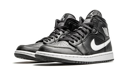 Nike Wmns Air Jordan 1 Mid, Zapatillas de bsquetbol Mujer, Blanco y Negro, 41 EU
