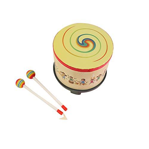 WFF Spielzeug Boden Drum for Kinder Rhythmusinstrument Musik Drum mit 2 Schlägel, Hohl Design Musikalisches Spielzeug for 3+ Year Old Baby Kinder besonderen Geburtstagsgeschenk (Color : Villain)