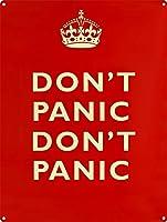パニックにならないでください 金属板ブリキ看板警告サイン注意サイン表示パネル情報サイン金属安全サイン