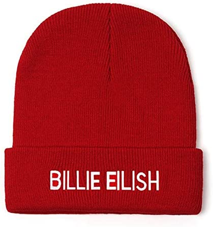 Embroidery Billie Eilish Beanie Hat Women Men Knitted Warm Winter Hats For Women Men Solid Hip-hop Casual Cuffed Beanies Bonnet
