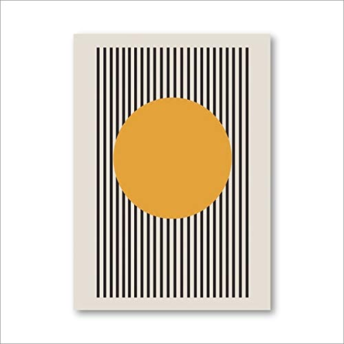 Exposición Bauhaus carteles geométricos únicos arte minimalista impresiones en lienzo pinturas abstractas sala de estar murales decorativos sin marco N52 40x60cm