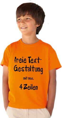 Kinder T-Shirt Druck mit Wunschtext Logo/eigener Grafik, viele Farben und Größen zur Auswahl