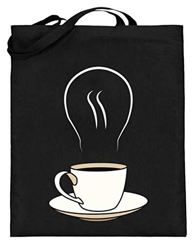 Chorchester Perfekt für Kaffee und Koffeinliebhaber - Jutebeutel (mit langen Henkeln) -38cm-42cm-Schwarz