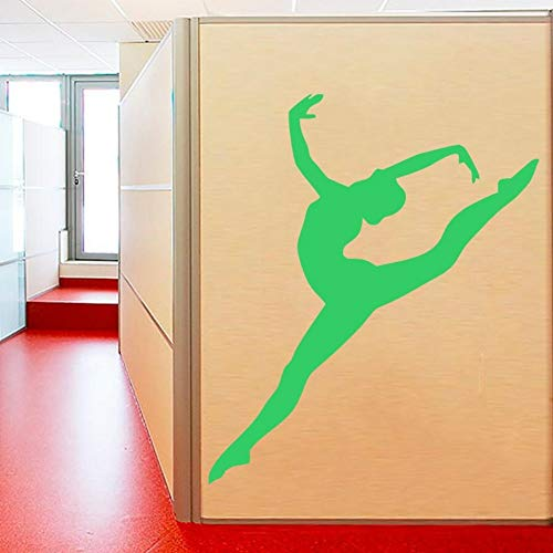 JJHR Wandtattoos Wandaufkleber Abnehmbare Gymnastik Mädchen Wandtattoo Kunst Sport Wandtattoo Tänzerin Wandaufkleber Ballerina Yoga Kunst Wandbild 47 * 57Cm