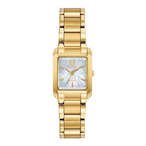 Orologio Citizen Eco-Drive Bianca da donna colore giallo oro EW5552-53D