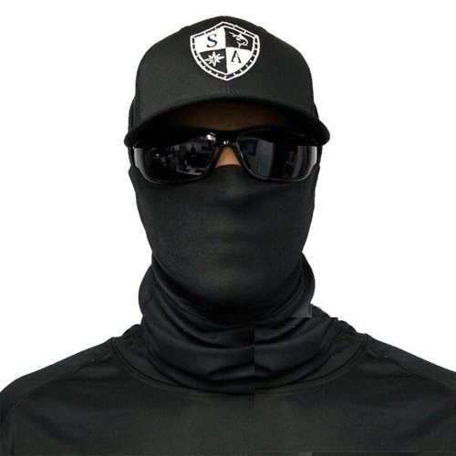 Bandala SA Company SA Fishing Face Shields de calidad, pañuelo multifunción textil con SPF 40, máscara protectora, Tactical Black