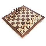 ZYZRYP BSTFAMLY木材チェスセット、国際チェスの携帯ゲーム、30 * 40分の30 * 40センチメートル* 2.5センチメートル折りたたみチェス盤チェスゲームI14 (色 : Option2 40 40 2.5cm)