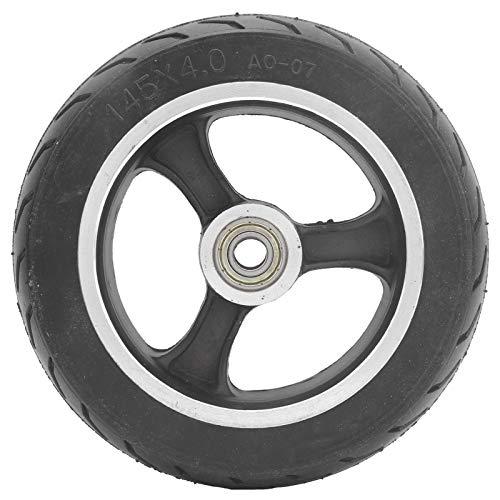 Alomejor Neumático sólido de Caucho de 6 Pulgadas Reemplazo de neumático sólido a Prueba de explosiones para Scooter eléctrico 145x4.0