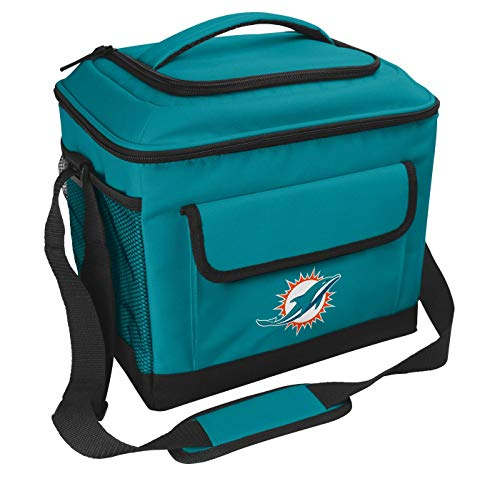 Rawlings NFL Soft-Sided Insulated Cooler, 24-Can Capacity, Miami Dolphins