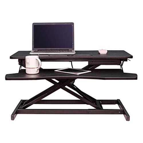 FurnitureR Soporte de sobremesa del convertidor, 28.7 pulgadas de altura ajustable Soporte de escritorio convertidor puede estar en unos pocos segundos, conveniente for el hogar y la oficina Hogar