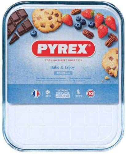 3 X Pyrex Borosilicate Glass Baking Tray