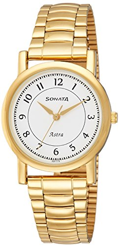 Sonata Analog White Dial Men's Watch-77049YM03C
