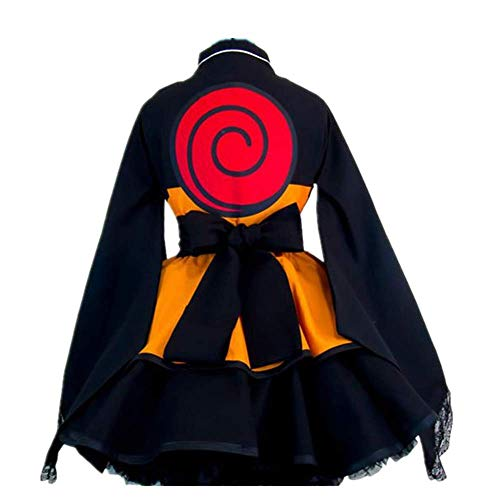CHANGL Anime Naruto: Shippūden Disfraz de Cosplay Carnaval de Halloween Faldas de Lolita Vestido de Kimono gótico para Disfraces Exposición de Anime