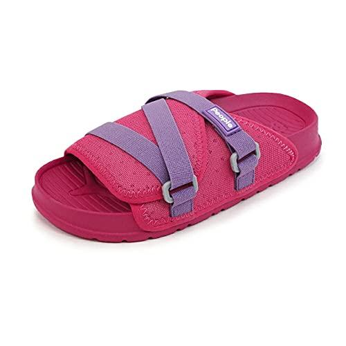 [People Footwear ピープルフットウェア] キッズ スライドサンダル シャワーサンダル 【LENNON CHILLER KIDS】 Pink(ピンク) C13(19.0cm)