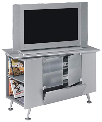 SZ Suarez Mueble TV Estilo Retro Color Gris Salon Mesa Auxiliar televisor contemporaneo 94x60x53