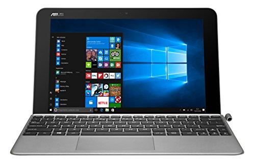 'Asus t102ha-gr036t – Tablette de 10.1 (Intel Atom x5-z8350, RAM de 4 Go, eMMC de 128 Go, Intel HD Graphics, Windows 10, Clavier QWERTY Espagnol) métal Gris Quartz