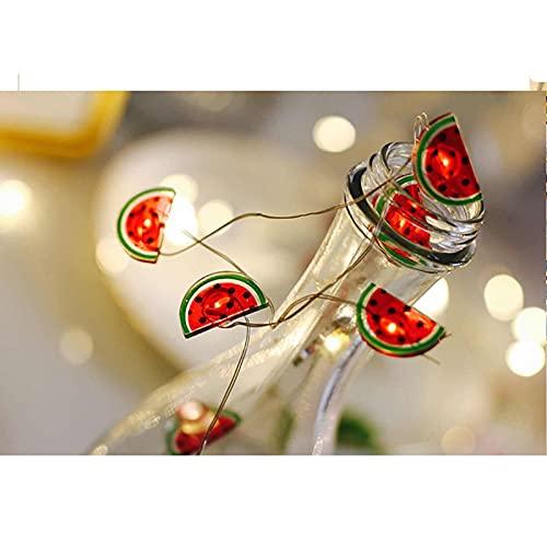 Tining Piccola lanterna creativa a LED, a forma di frutto di anguria, può essere utilizzata per interni ed esterni