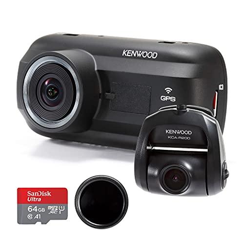 Kenwood DRV-A601W Dash Cam & KCA-R200 Rear View Camera Bundle