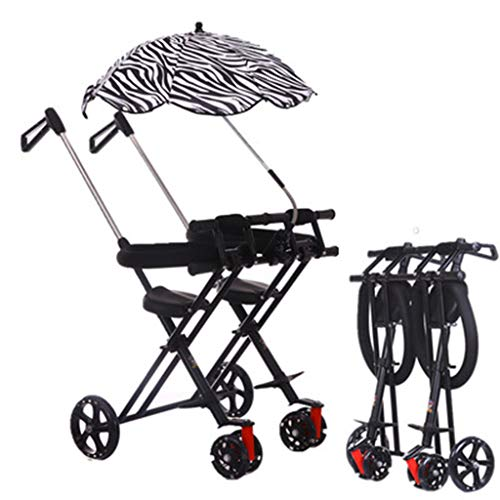 Pram DZWSD Double Stroller Tandem Foldable Stroller for Babies Comfort Trip for 12 Month Up to 6 years old