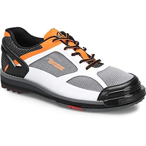 Dexter Bowling Shoes The 9 HT LE Bowlingschuhe für Herren, Weiß/Schwarz/Orange, Größe 43