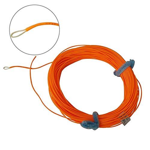 Aventik - Lenza per pesca a mosca, galleggiante, con ID, Arancione., 7F