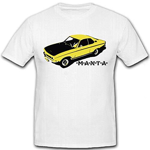Manta Oldtimer Auto Fahrzeug Wagen Kfz Modell Manta Kult - T Shirt #7260, Größe:L, Farbe:Weiß