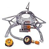 シングルバーナー コンパクトバーナー 圧電点火変換 CB缶/OD缶対応 アダプター 収納ケース付き キャンプ 登山 アウトドア ソロキャンプ 折りたたみ式 3.5kw