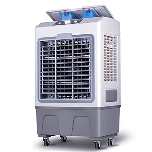 GUOJIN - Climatizador Evaporativo, 150W, 5000M³/H, 3 Modos Y 3 Velocidades, Humidificador De Aire, 2 Cajas Hielo, Depósito 40 L. Diseño Exclusivo