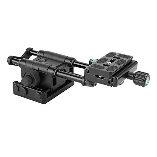 Diyeeni Makro focussering focusrail slider, schuifregelaar Makro instelslee voor panorama- en macrofotografie, statief stabilisator macrorail voor UNC1/4, 3/8 inch schroefgat