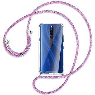 mtb more energy® Collar Smartphone para Xiaomi Redmi 8 (6.22'') - Unicornio Morado - Funda Protectora ponible - Carcasa Anti Shock con Cuerda