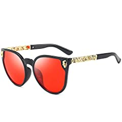 THE SKULL AND CAT EYE DESIGNS - Sunglasses collection remains true to its classic heritage while continuously evolving to meet today's fashion demands. UV400 PROTECTION – Dollger Vision lenses can block 100% of both UVA and UVB radiation. UV400 rated...