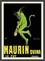 ポスター レオネット カピエッロ Maurin Quina le Puy 額装品 ウッドベーシックフレーム(ブラック)