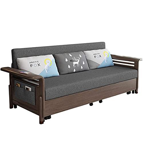 N/Z Home Equipment Sofá Cama Plegable Moderno Sala de Estar Tela de Lino Sofá futón de Dos plazas Sofá Convertible para Cama-Cama Dormitorio de Adultos Dormitorio Oficina Sala de recepción 2.1M