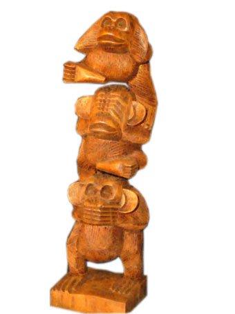 Unbekannt Die DREI weisen Affen II Affen der Weisheit Geschenkidee Holzfigur