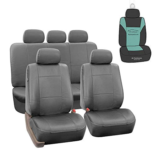 FH GROUP Classic PU Leather Seat Covers