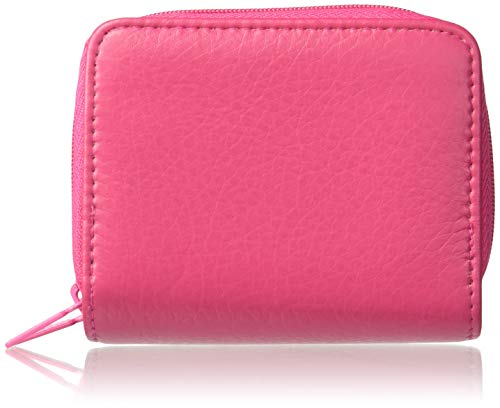 Buxton mens Pebble Wizard Wallet, Pink, One Size US