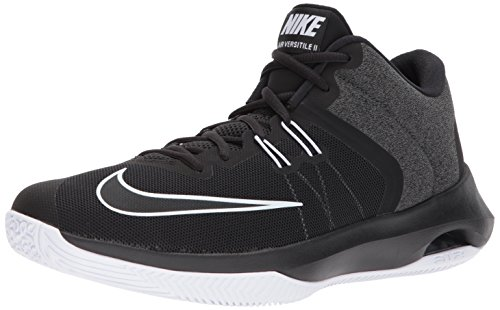 Nike Men's Air Versitile II Basketball Shoe, Black/White, 12.0 Regular US