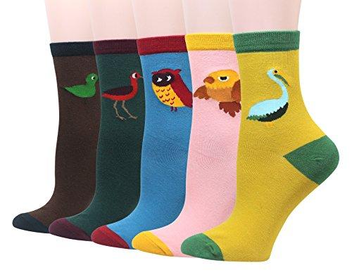 Cansok Damen Socken Gr. Einheitsgröße, Vogel Eule