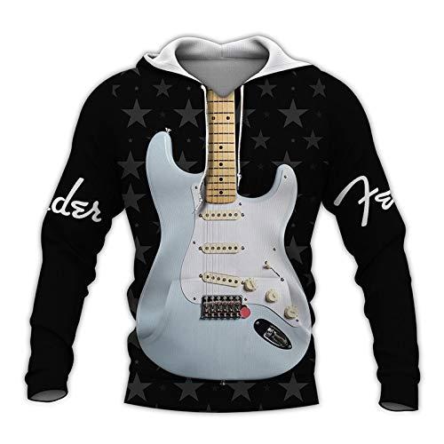 Hermosa Guitarra Eléctrica 3D Todo Impreso Traje Otoño...