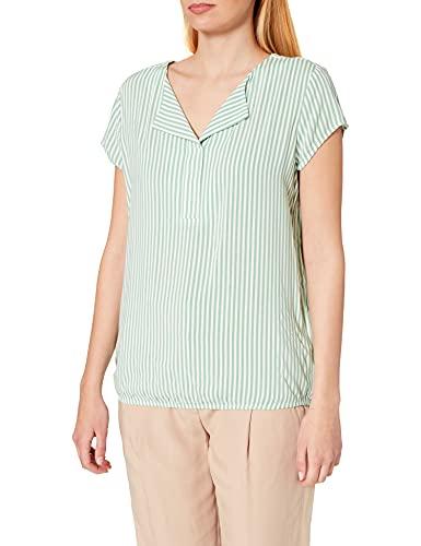 Tom Tailor 1024062 Print Blusas, 26041-Verde Y Blanco Vertical, 38 para Mujer