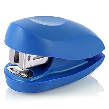 Swingline Mini Stapler, Tot, 12 Sheet Capacity, includes Built-In Staple Remover & 1000 Standard Staples, Blue…